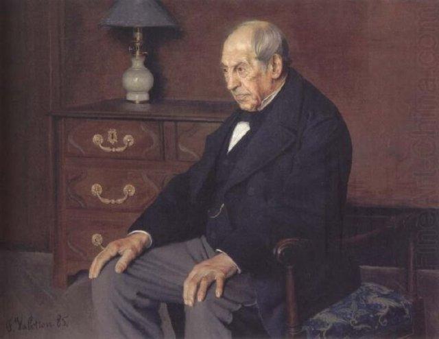 Portrait of Monsieur Ursenbach by Félix Vallotton (1885)