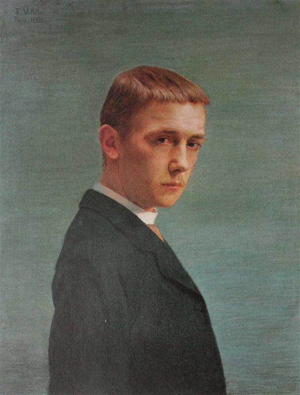 Self portrait by Félix Vallotton (1885)