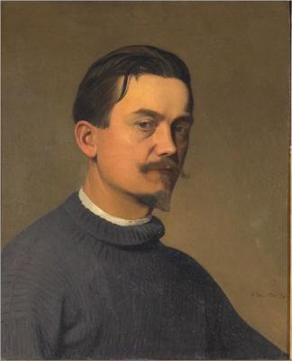 Self portrait by Félix Vallotton (1897)