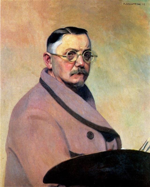 Self-portrait with the dressing gown by Félix Vallotton (1914)
