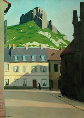Square in Les Andelys with the Chateau Gaillard by Félix Vallatton (1924)