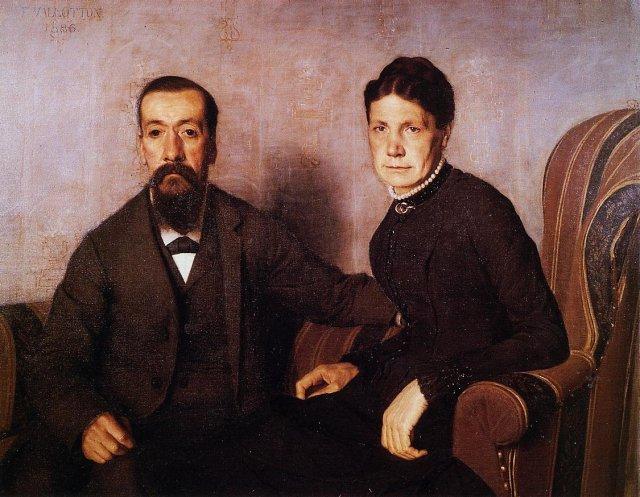 The Artist`s Parents by Félix Vallotton (1886)