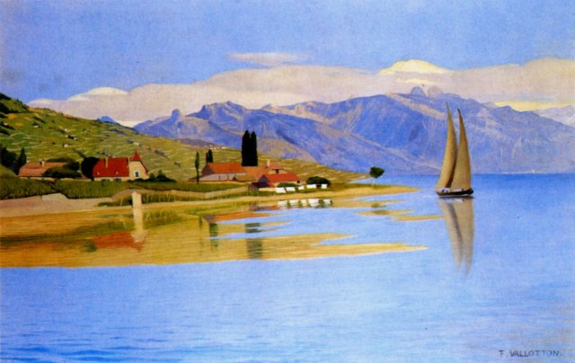 The Port of Pully by Félix Vallotton (1891)