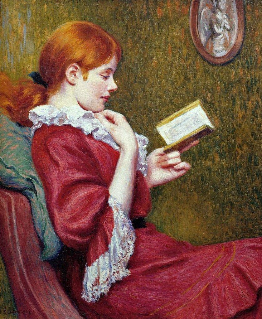 The Good Book by Federico Zandomeneghi (1897)