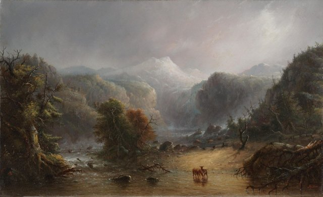 Where the Clouds Love to Rest by Alfred Jacob Miller (c.1850)