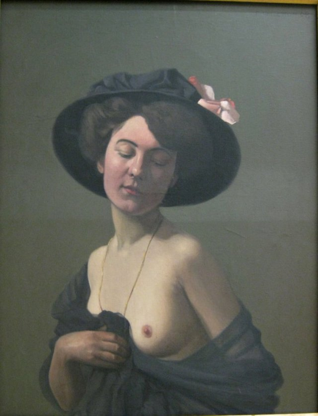 Woman with a Black Hat by Félix Vallatton (1908)