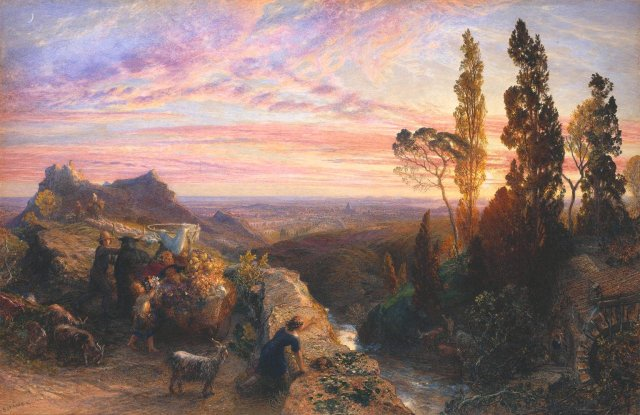 Dream in the Apennines by Samuel Palmer (1864)