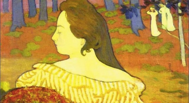 Beauty in the Autumn Wood by Maurice Denis (1892)