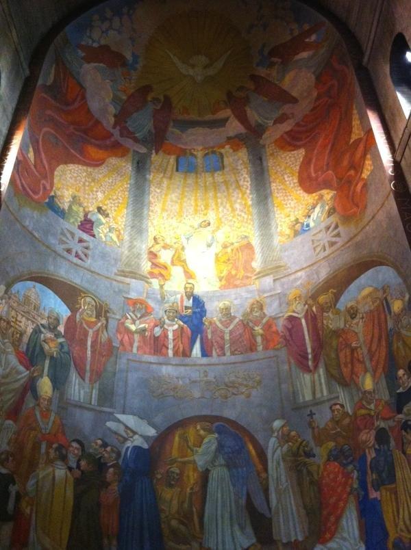 Maurice Denis' murals in L'Église du Saint-Espirit, Paris.