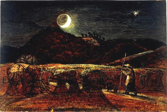 Cornfield by Moonlight, with the Evening Star by Samuel Palmer (c.1830)