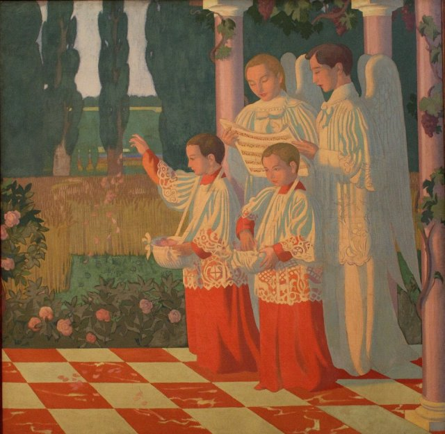 Decoration of the chapel of the College of the Holy Cross Vésinet by Maurice Denis (1899)