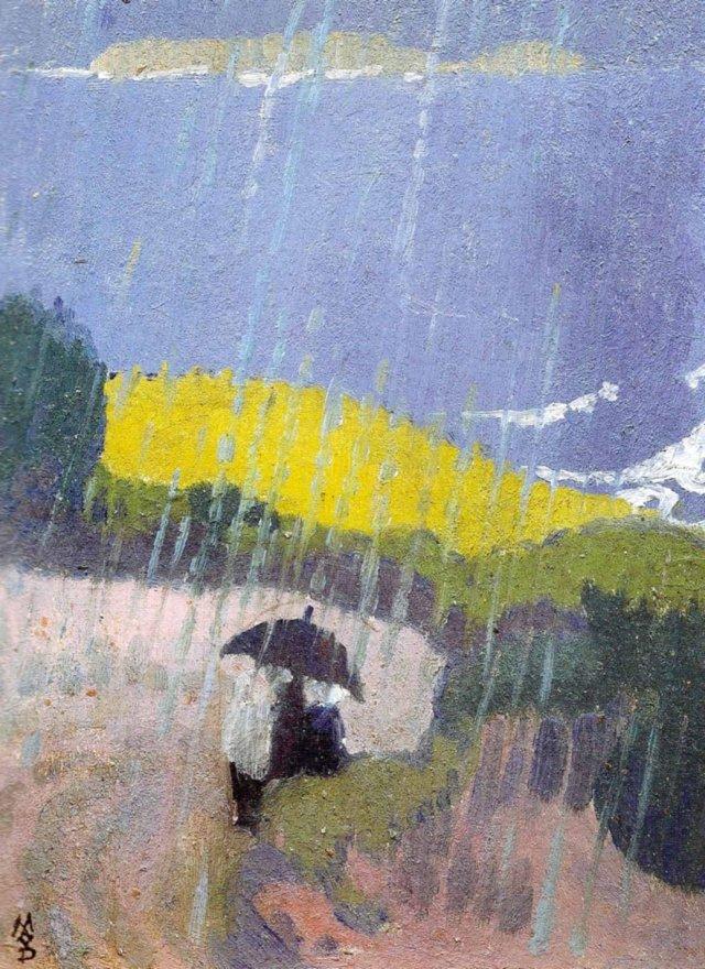Pluie en Bretagne by Maurice Denis (1889)