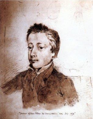 Portrait of Samuel Palmer by Henry Walter (1819)