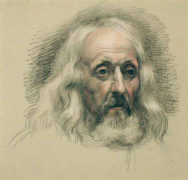 Samuel Palmer in Old Age by John Linnell
