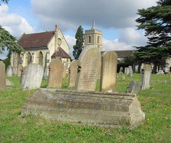 Samuel Palmer's grave in St Mary Magdalene Church Reigate