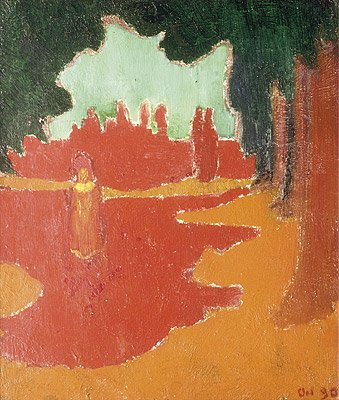 Sunlight on the Terrace by Maurice Denis (1890)