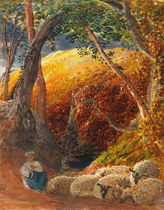 The Magic Apple Tree by Samuel Palmer (1830)