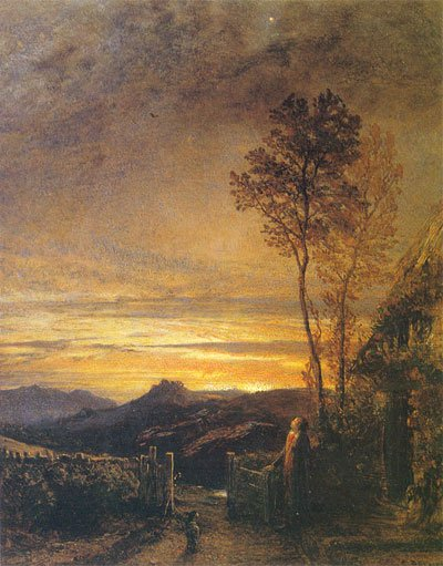 The Rising of the Lark by Samuel Palmer (c.1839)
