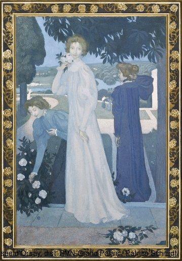 Triple Portrait of Yvonne Lerolle by Maurice Denis (1897)