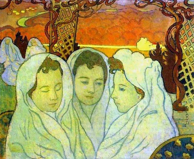 Triple portrait of Martha by Maurice Dennis (1892)