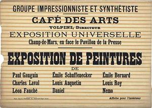 Volpini Exhibition poster