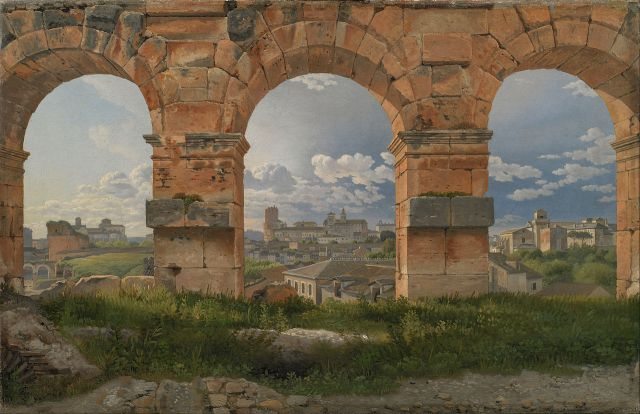 A View through Three of the North-Western Arches of the Third Storey of the Coliseum by Christoffer Eckersberg (c.1816)