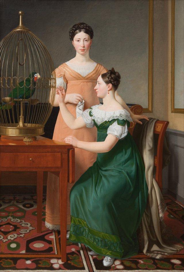 Bella and Hanna. Mendel Levin Nathanson's Elder Daughters by Christoffer Eckersberg (1820) (125 x 85cms) Statens Museum for Kunst in Copenhagen