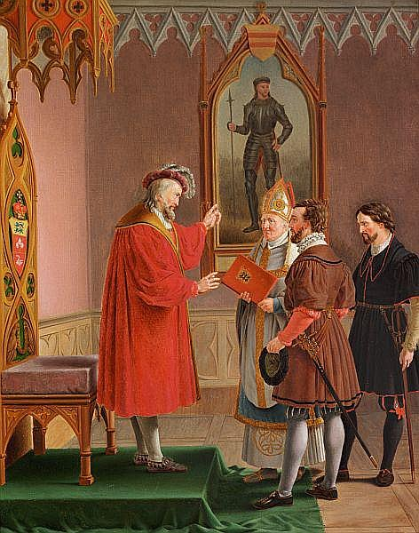 Duke Adolf declines the offer to be Danish king by Christoffer Eckersberg (1821) (43 x 39cms) Private collection