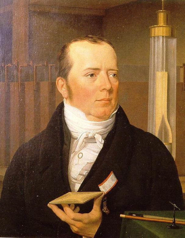 Hans Christian Ørsted by Christoffer Eckersberg (1822) (53 x 43cms) Danish Museum of Science and Technology, Helsingør