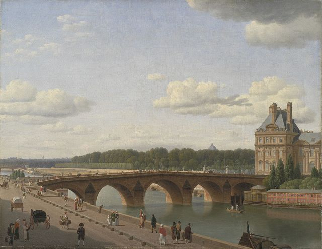 Pont Royal seen from Quai Voltaire by Christoffer Eckersberg (1812)