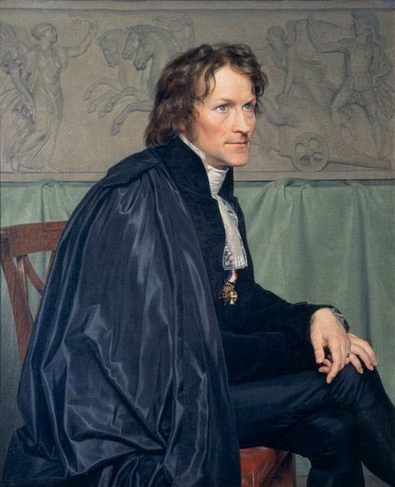 Portrait of Bertel Thorvaldsen wearing the habit and Insignia of the San Luca Academy by Christoffer Eckersberg (1814) (91 x 74cms) The Royal Danish Academy of Fine Arts