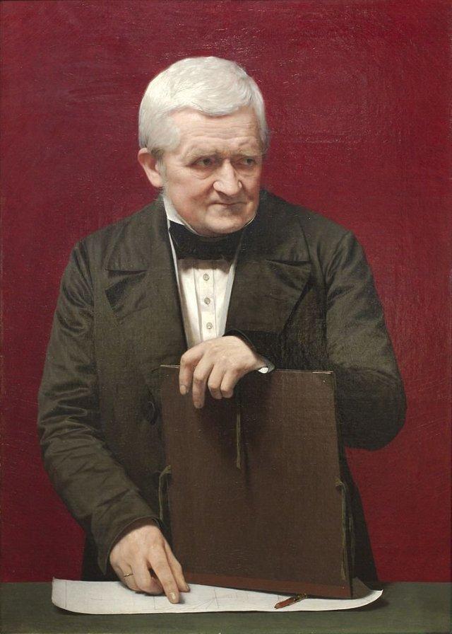 Portrait of C.W. Eckersberg by Johna Vilhelm Gertner (1850) (83 x 59 cms) Det Kongelige Akademi For De Skønne Kunster, Copenhagen
