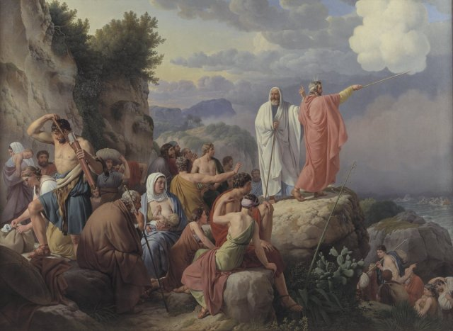 The Israelites Resting after the Crossing of the Red Sea by Christoffer Eckersberg