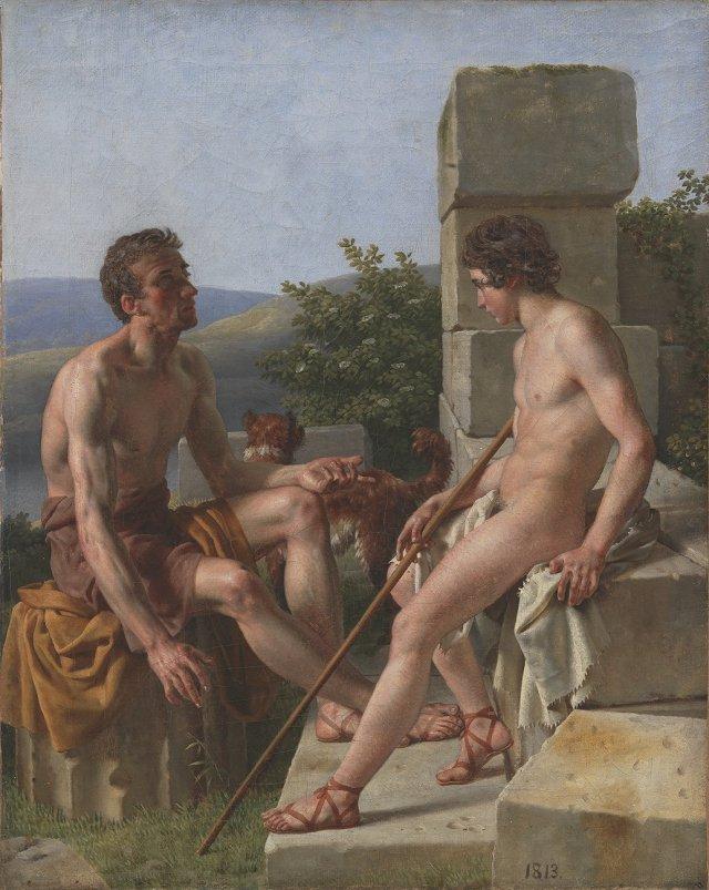 Two Shepherds by Christoffer Eckersberg (1813) Statens Museum for Kunst, Copenhagen