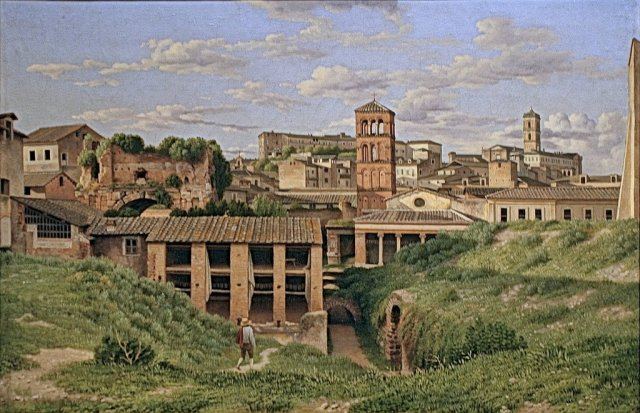 View of the Cloaca Maxima, Rome by Christoffer Wilhelm Eckersberg (1814)