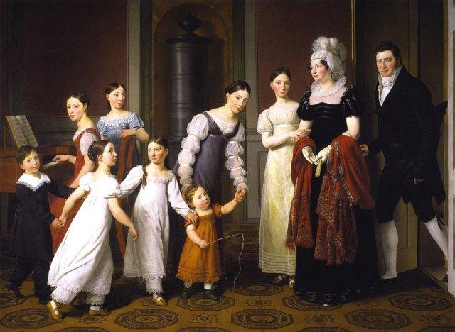 The Nathanson Family by Christoffer Eckersberg (1818) (126 x 173cms) Statens Museum for Kunst, Copenhagen