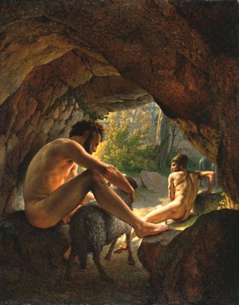 Ulysses Fleeing the Cave of Polyphemus by Christoffer Eckersberg (1812)
