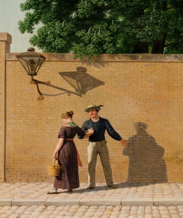 A Sailor Taking Leave of His Girl by Christoffer Eckersberg (1840) (35 x 26cms) Ribe Art Museum