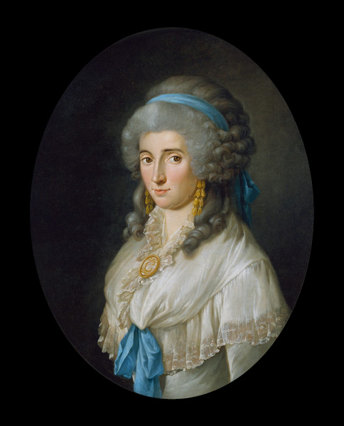 Charlotte von Stein by Georg Melchior Kraus (1787)