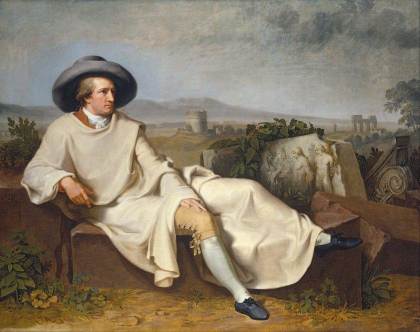 Goethe in the Roman Campagna by Johann Heinrich Wilhelm Tischbein (1787) (164 x 206cms) Frankfurt Stâdel Museum