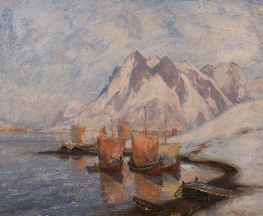 Nordic Landscape (Nordlandsmotiv) by Thorolf Holmboe