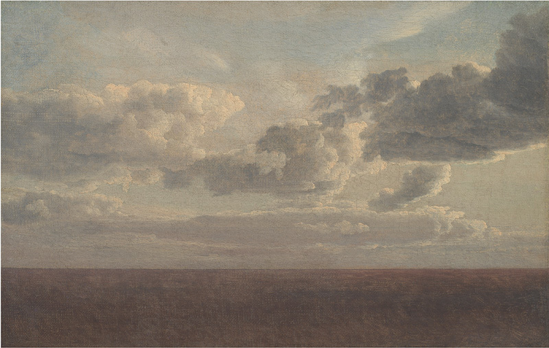C.W. Eckersberg (1783-1853), Studie af skyer over havet, 1826