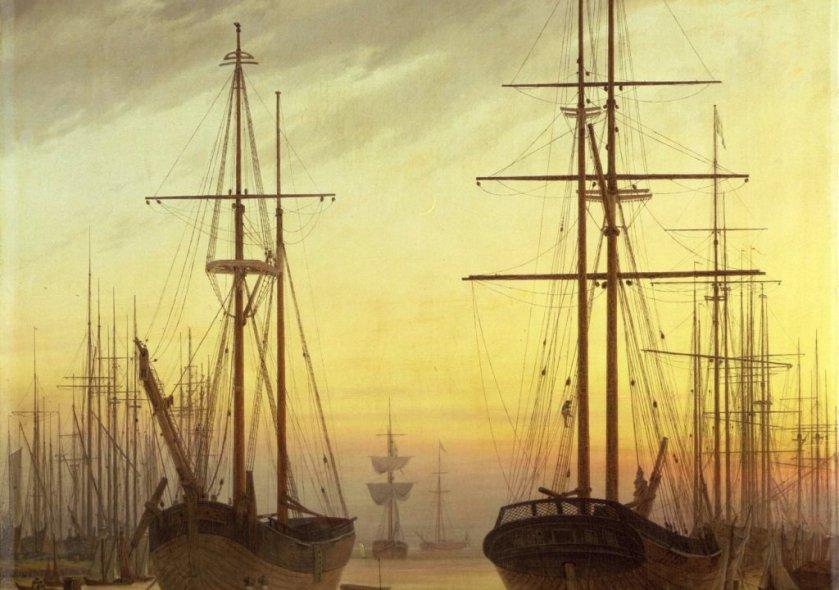View of a Harbour by Casper David Friedrich (1816)