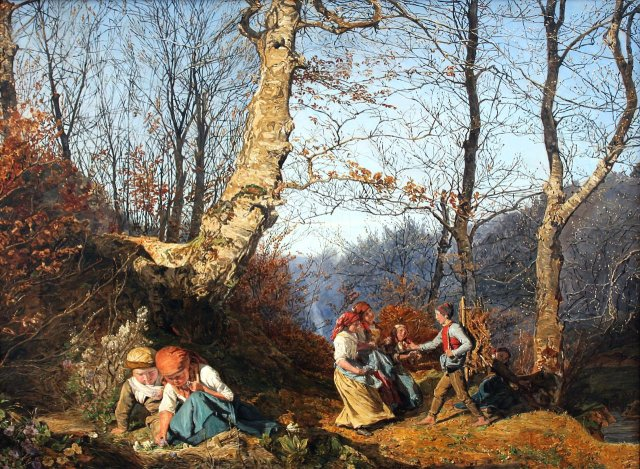 Early Spring in Vienna Forest by Ferdinand Waldmüller (1864)