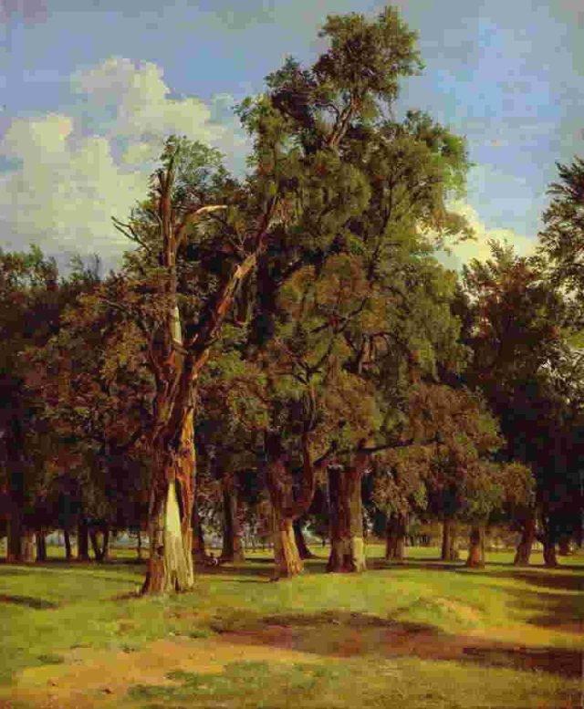 Elms In Prater by Ferdinand Waldmüller (1831)