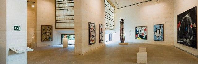 Inside the Gallery at the Fundación Pilar i Joan Miró, Palma Mallorca