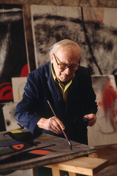 Joan Miro at work