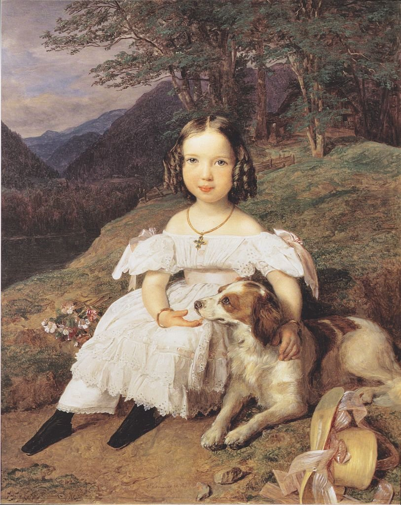 Julia Comtesse Apraxin by Ferdinand Waldmüller (1835)