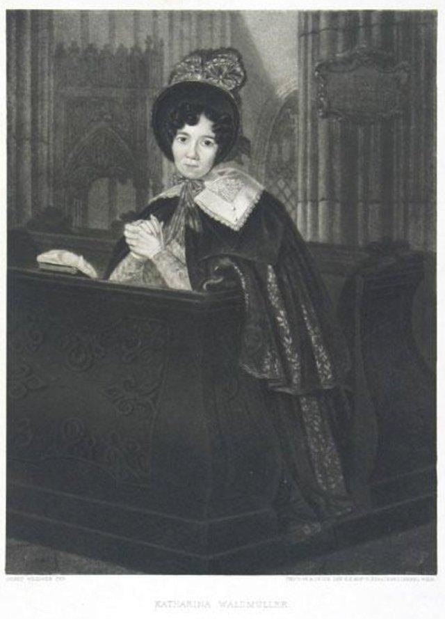 Katharina Waldmüller (née Weidner) by Joseph Weidner