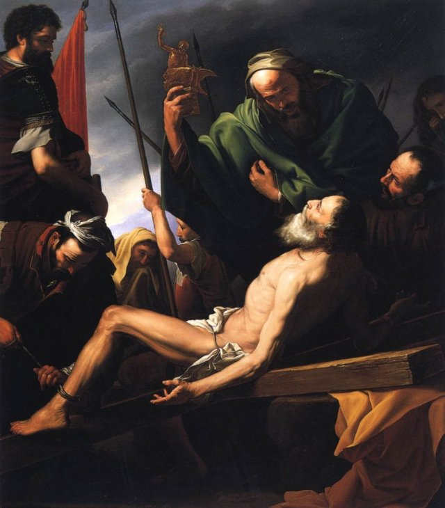 Martyrdom of St Andrew by Ferdinand Waldmüller (1821)